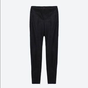 Zara Pants - Zara Faux Leather Panel Leggings with Leg Zippers